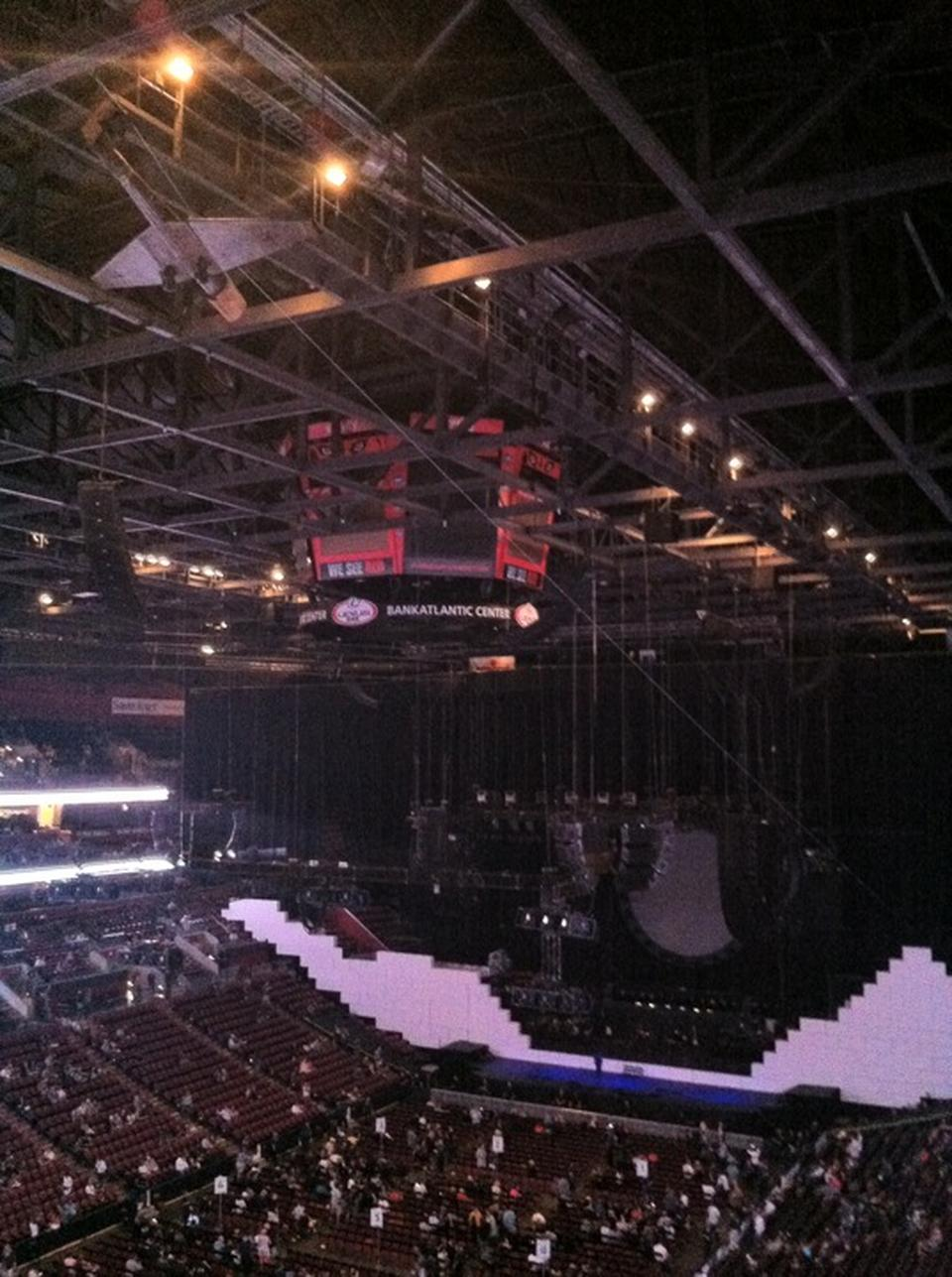 Concert Seat View for BB&T Center Section 306