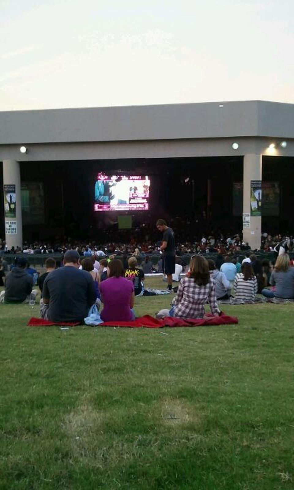 Concert Seat View for Cellairis Amphitheatre at Lakewood Lawn