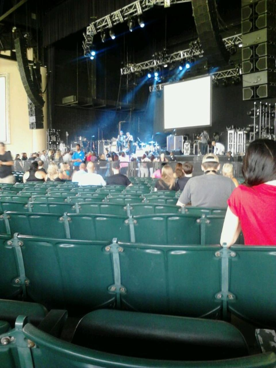 Concert Seat View for Cellairis Amphitheatre at Lakewood Section 101