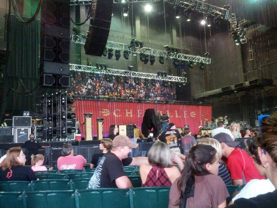Concert Seat View for Cellairis Amphitheatre at Lakewood Section 103