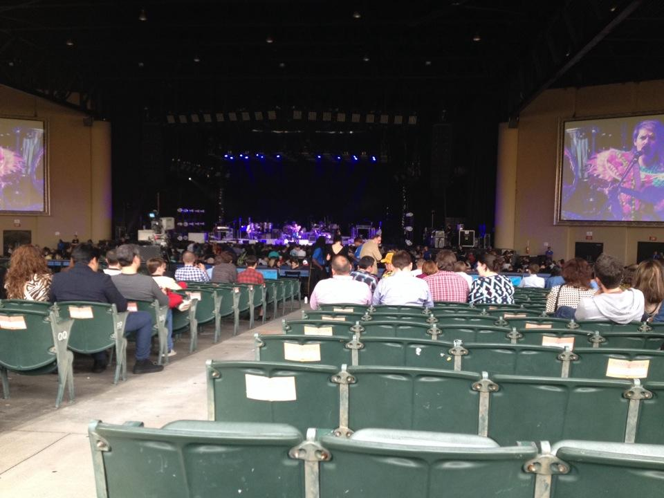 Concert Seat View For Cellairis Amphitheatre At Lakewood Section 203
