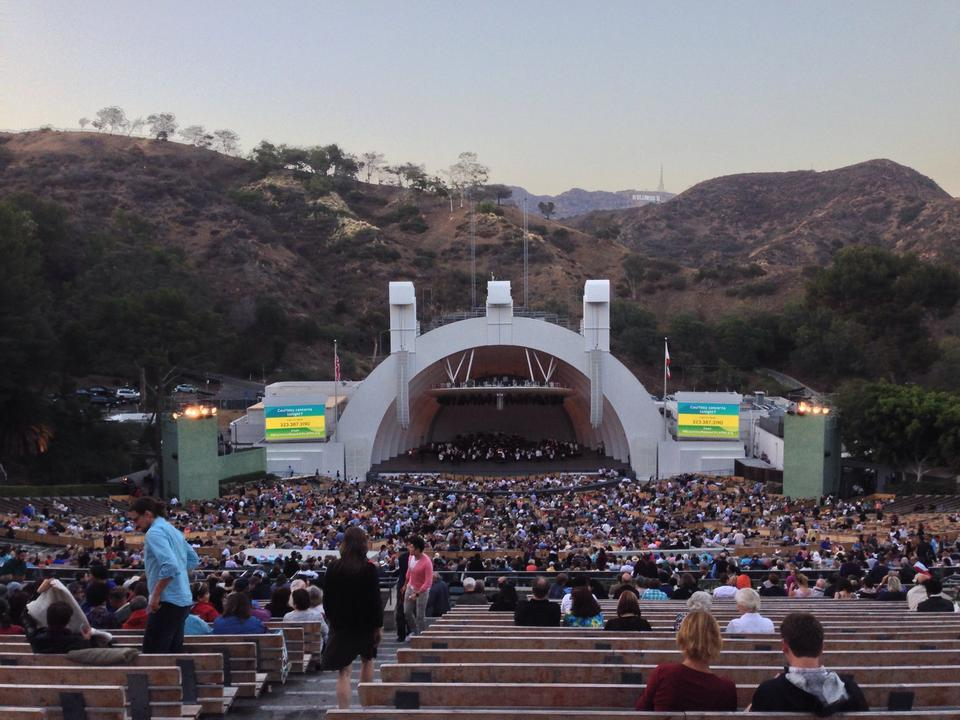 Hollywood bowl seating guide for Terrace 5 hollywood bowl