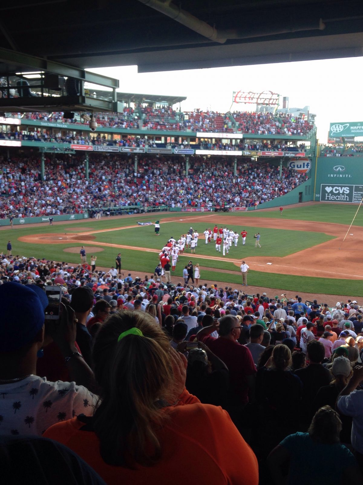 Seat View for Fenway Park Grandstand 12, Row 14, Seat 6