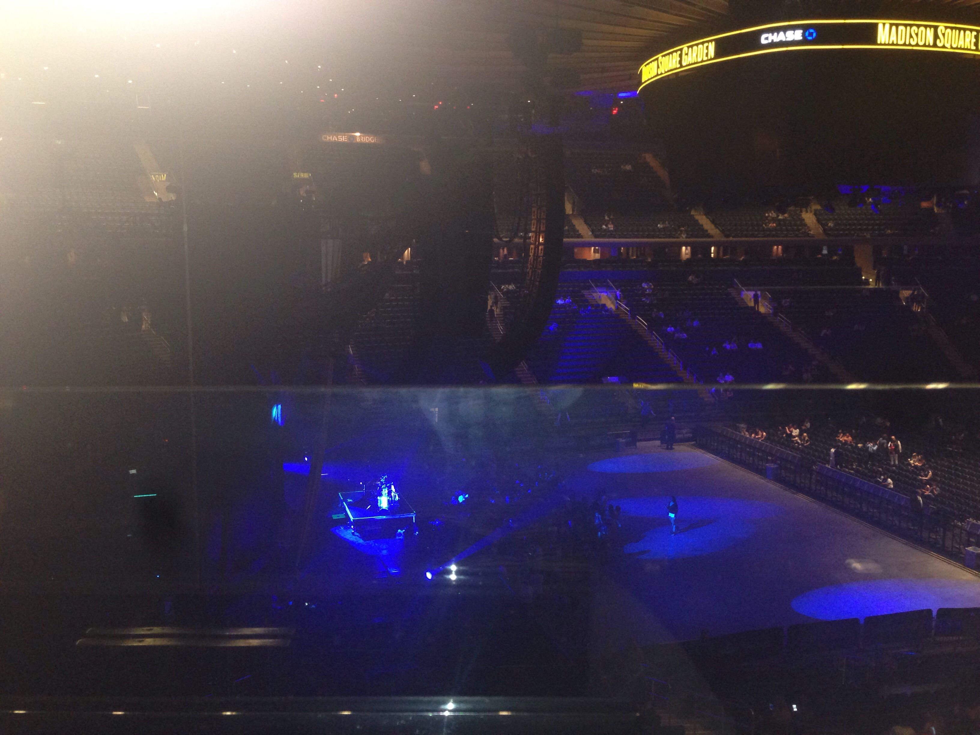 Concert Seat View for Madison Square Garden Section 222, Row 1, Seat 2