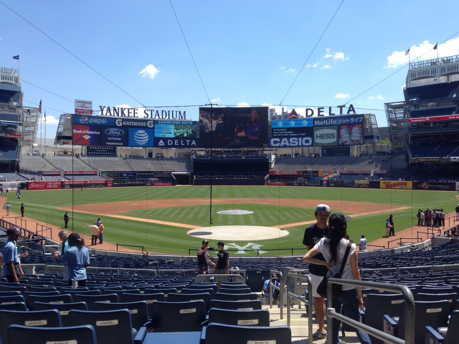 New York Yankees Seat View for Yankee Stadium Section 120B, Row 15, Seat 1