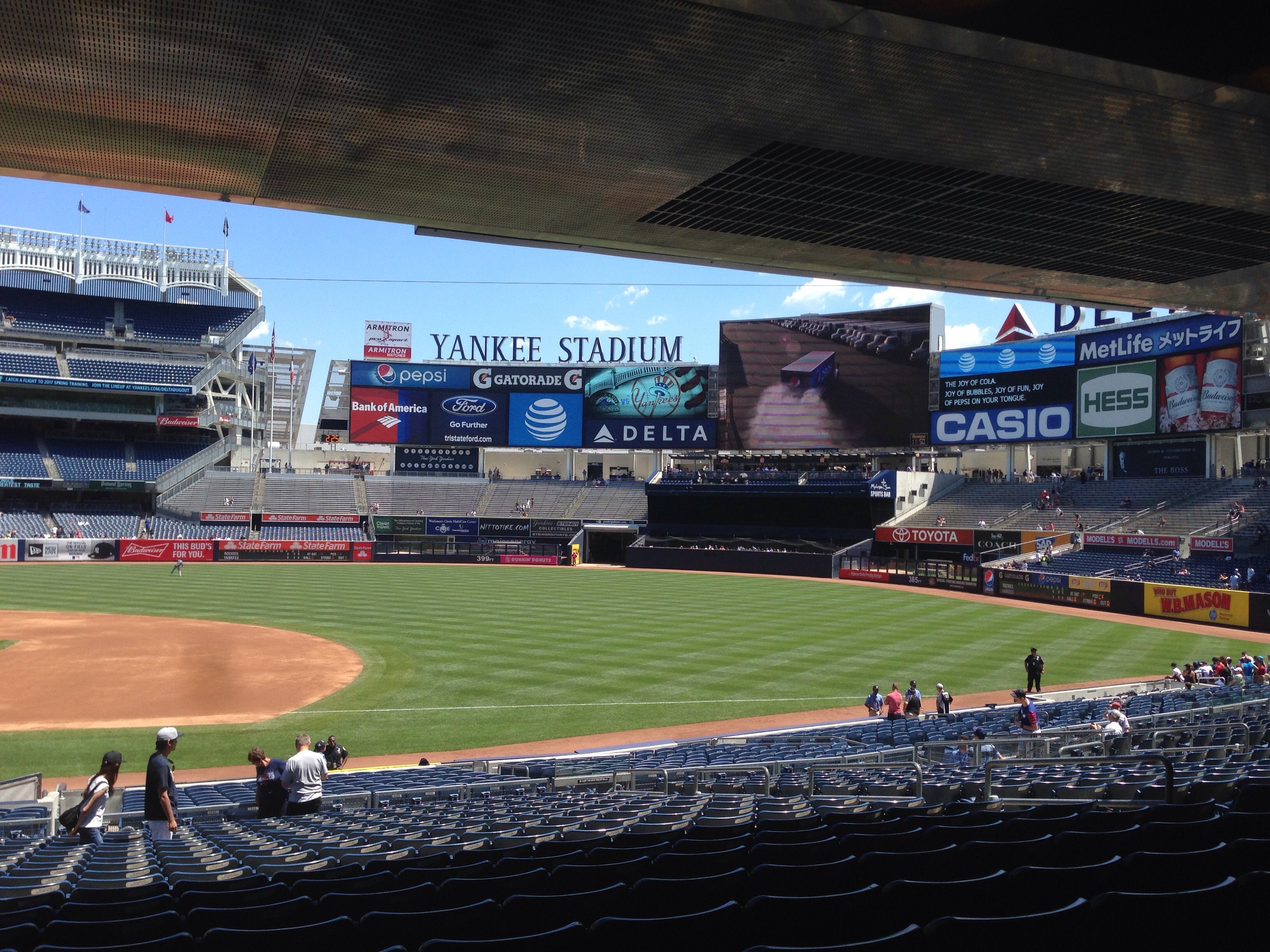 New York Yankees Seat View for Yankee Stadium Section 114B, Row 18, Seat 12