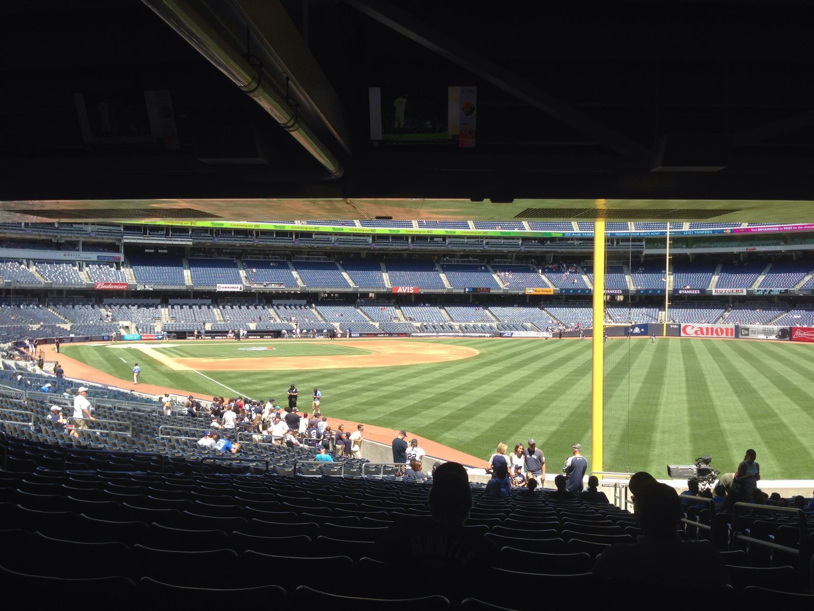 New York Yankees Seat View for Yankee Stadium Section 108, Row 22