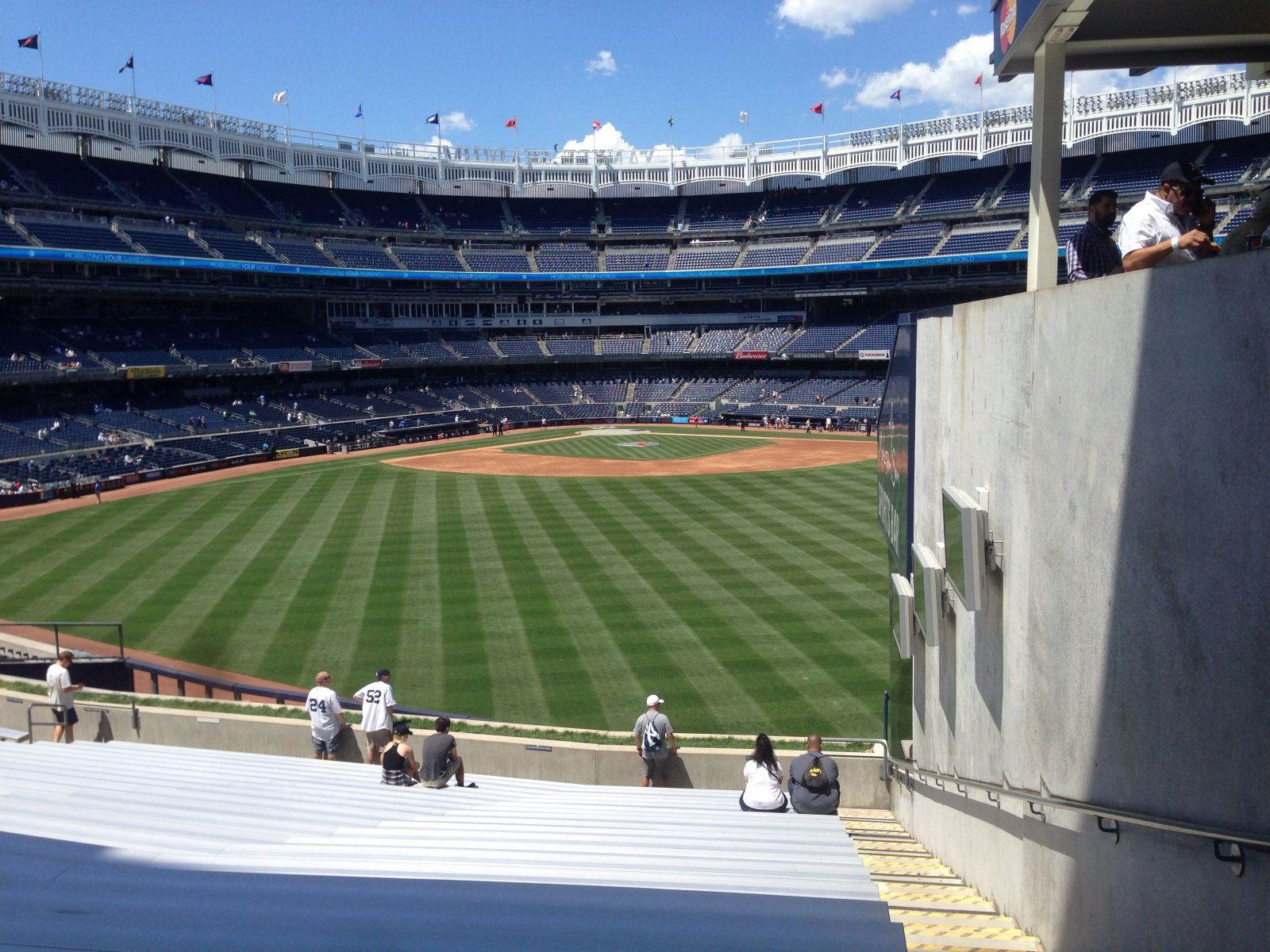 New York Yankees Seat View for Yankee Stadium Section 201, Row 23, Seat 1