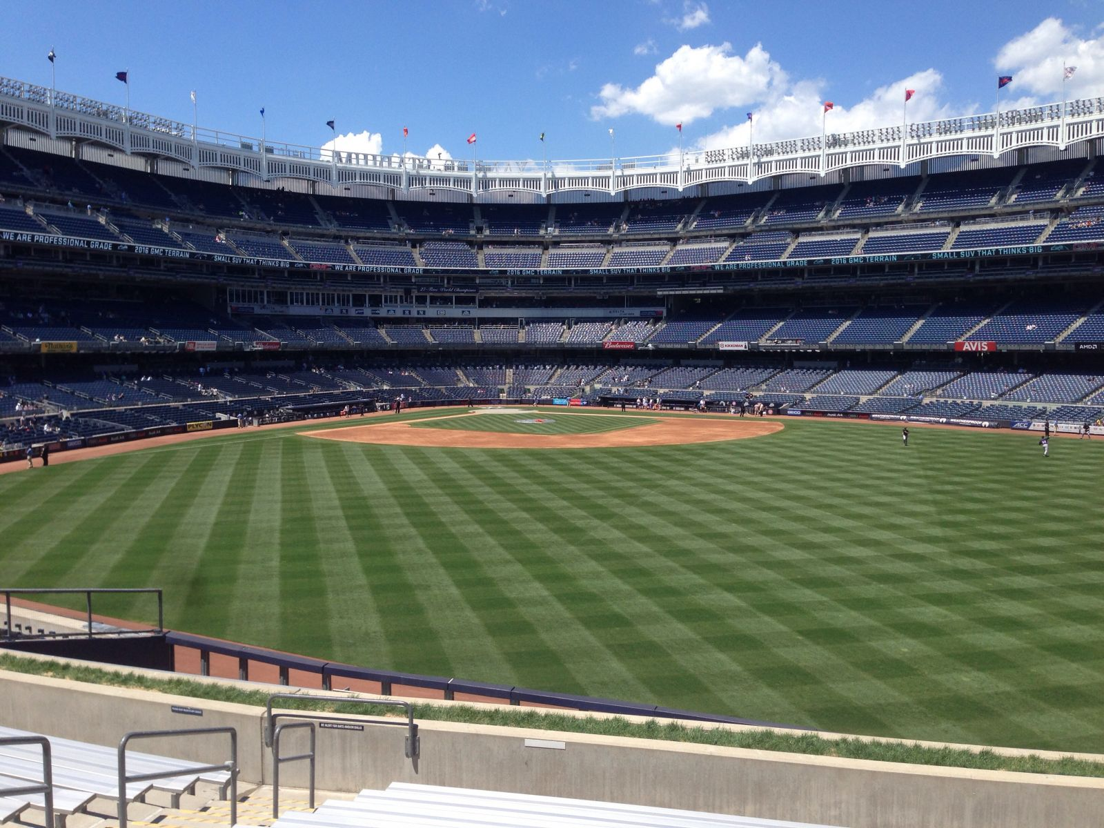 New York Yankees Seat View for Yankee Stadium Section 201, Row 14, Seat 21