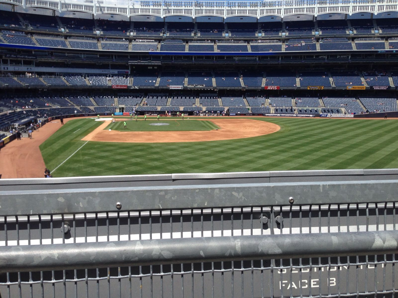 New York Yankees Seat View for Yankee Stadium Section 206, Row 1