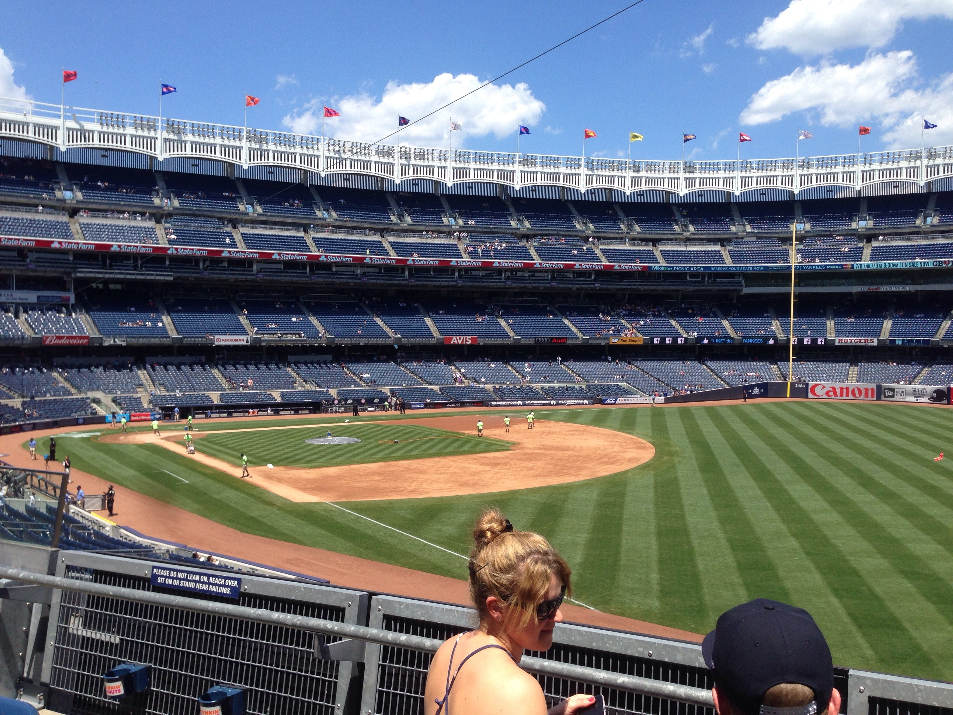 New York Yankees Seat View for Yankee Stadium Section 210, Row 3