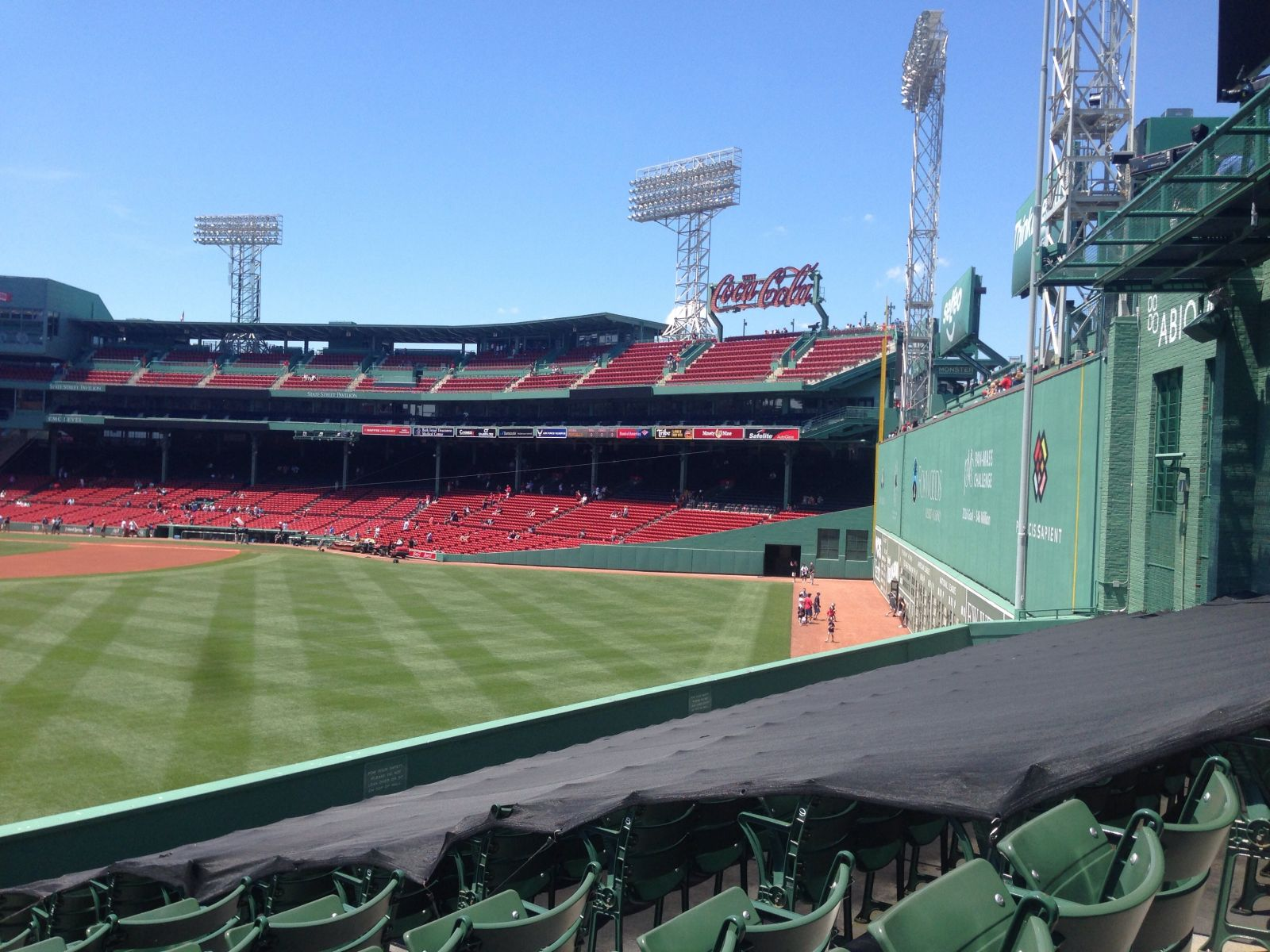 Seat View for Fenway Park Bleachers 36, Row 12, Seat 6
