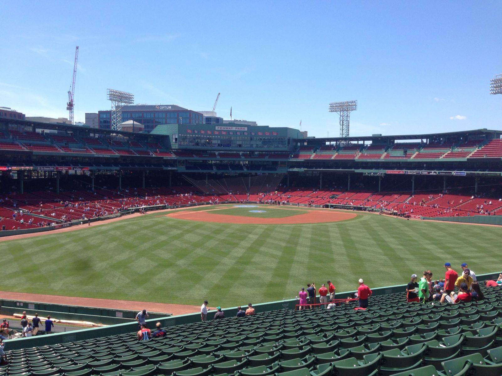 Seat View for Fenway Park Bleachers 37, Row 31