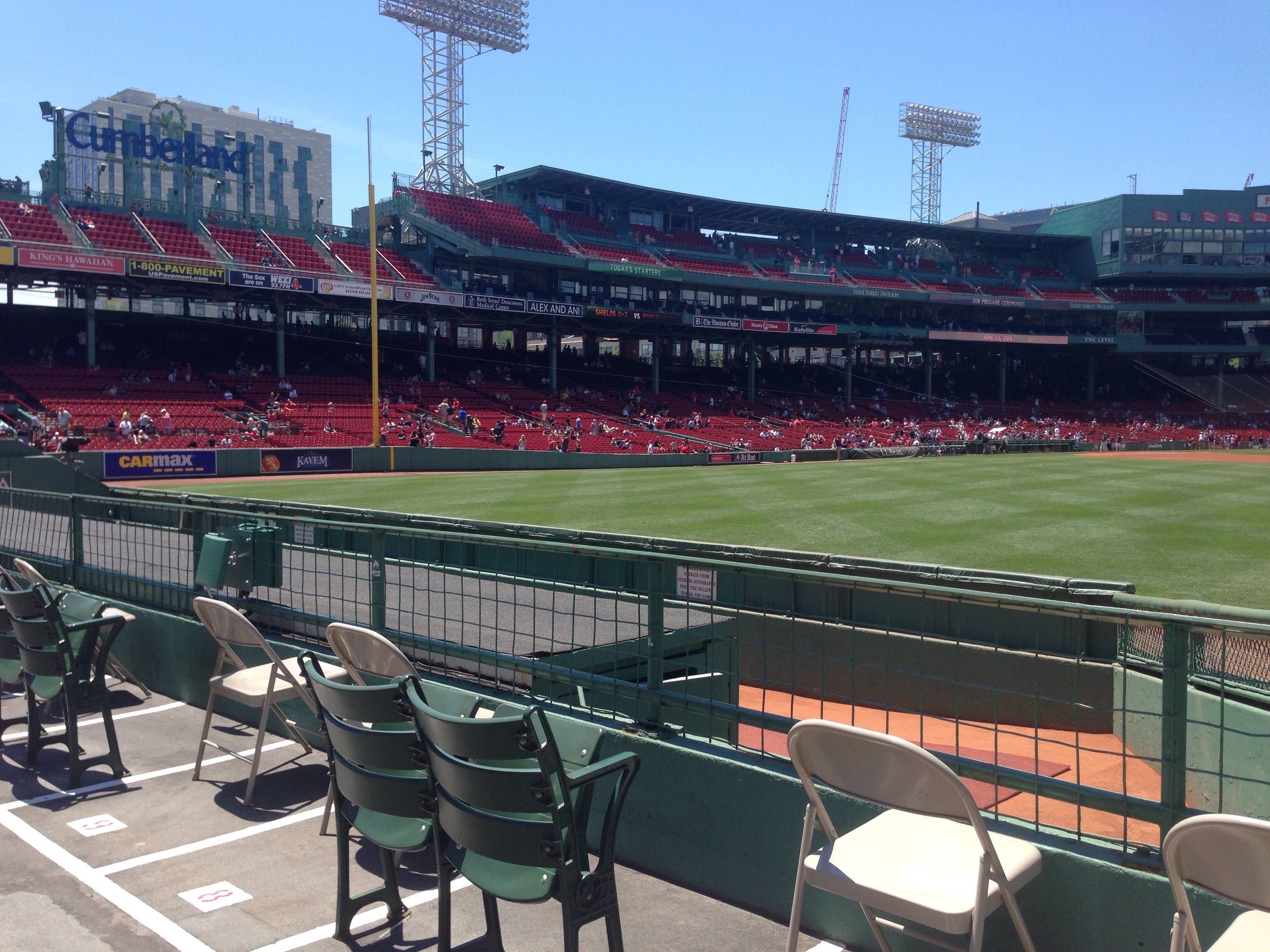 Seat View for Fenway Park Bleachers 40, Row 3, Seat 7