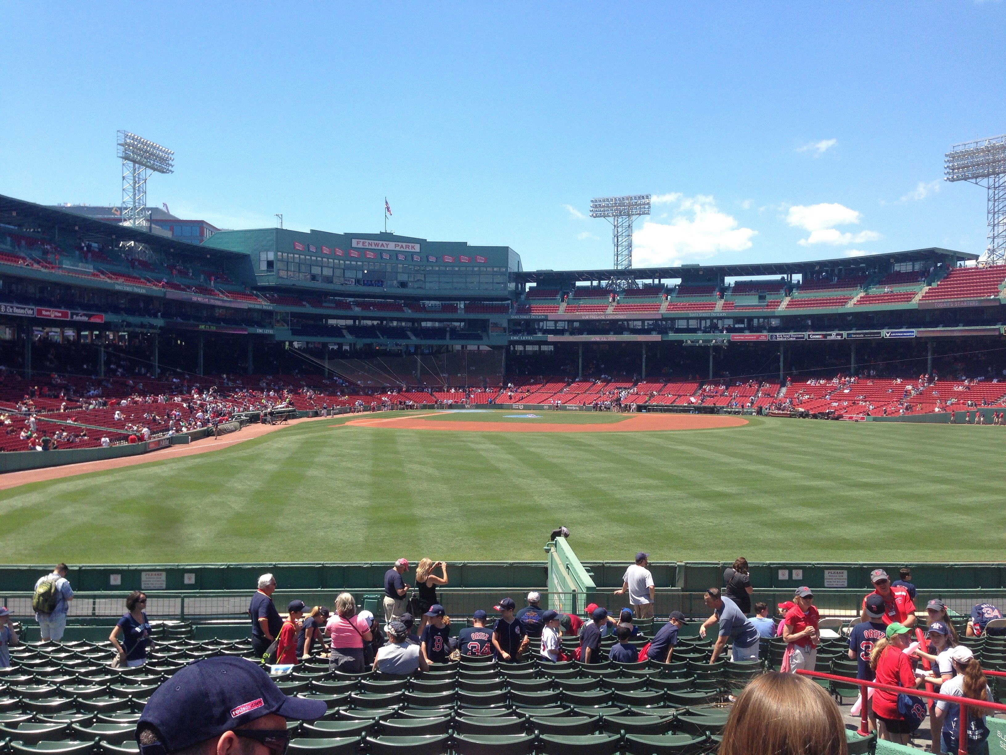 Seat View for Fenway Park Bleachers 42, Row 22