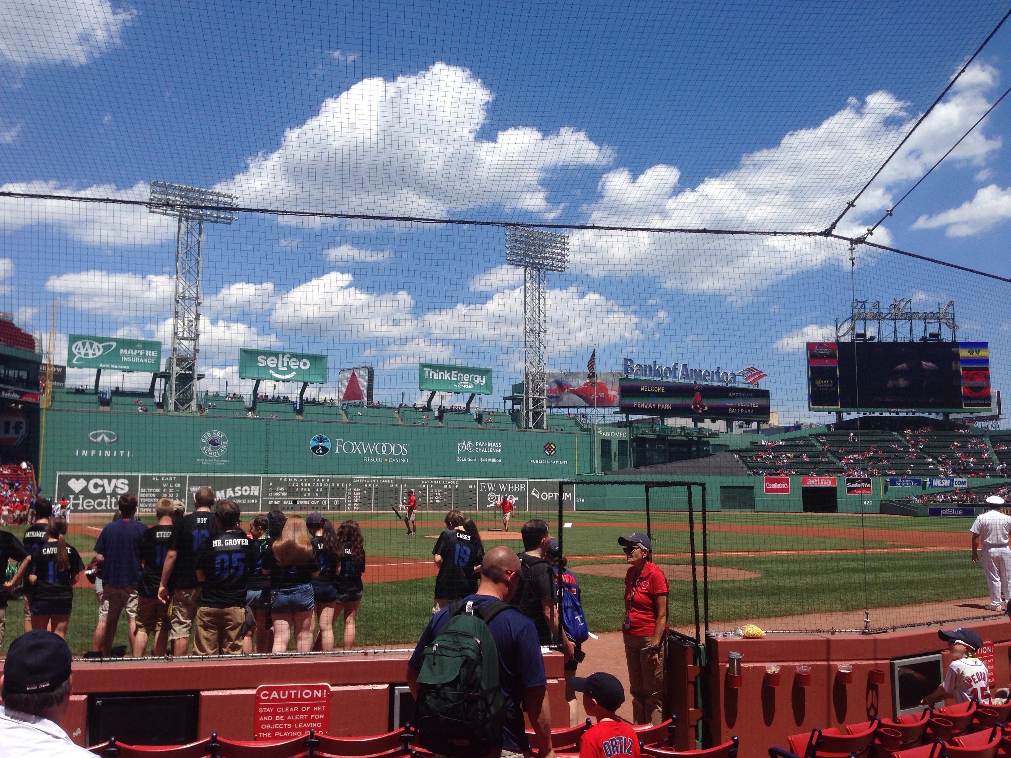 Seat View for Fenway Park Field Box 40, Row E