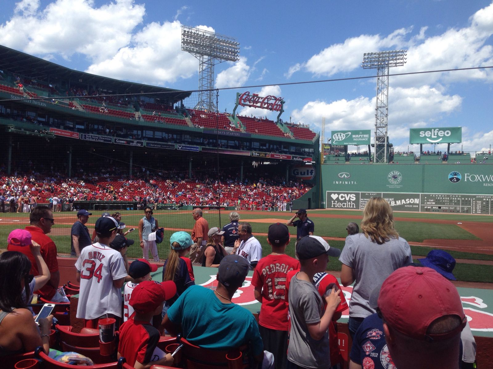 Seat View for Fenway Park Field Box 28, Row H
