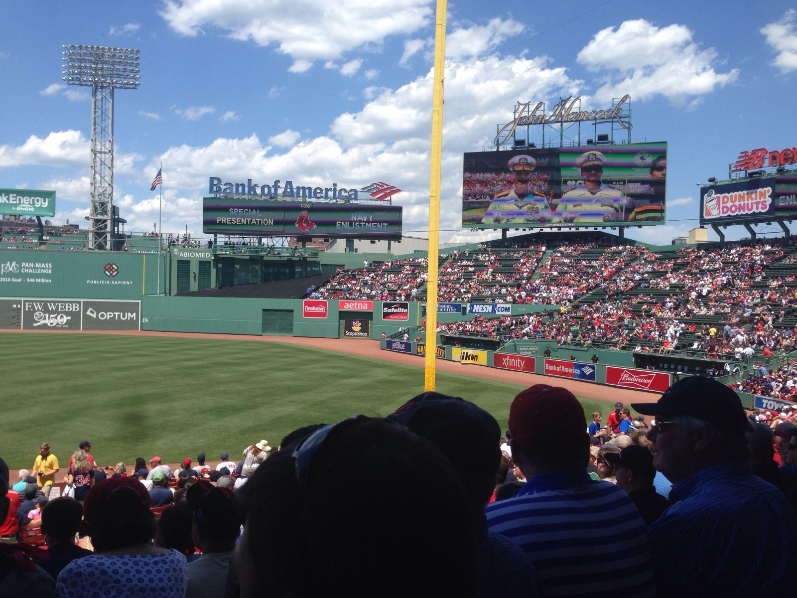 Seat View for Fenway Park Right Field Box 94, Row UU