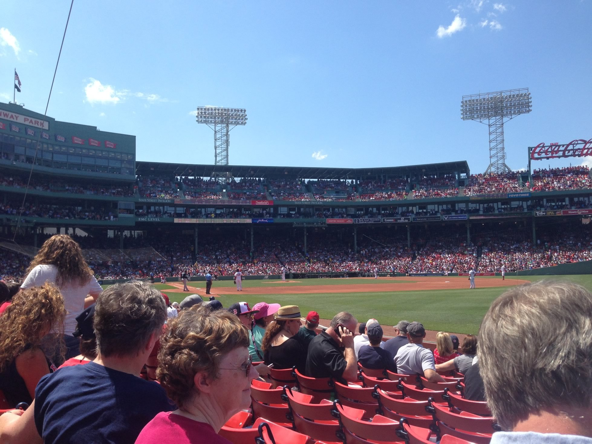 Seat View for Fenway Park Field Box 7, Row H, Seat 8