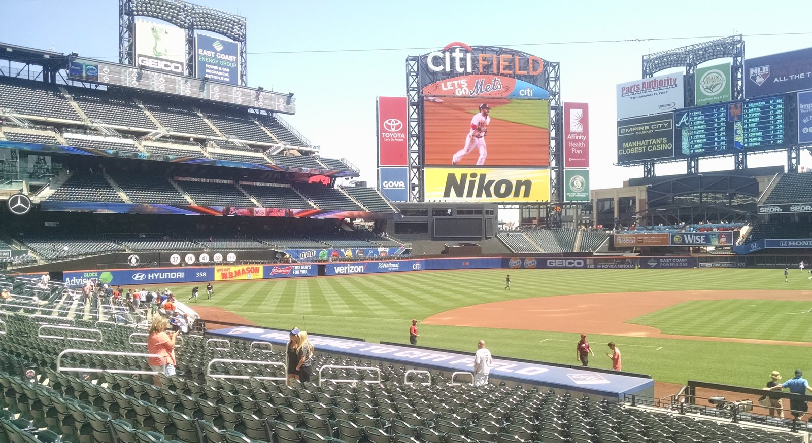 Seat View for Citi Field Section 121, Row 23, Seat 1