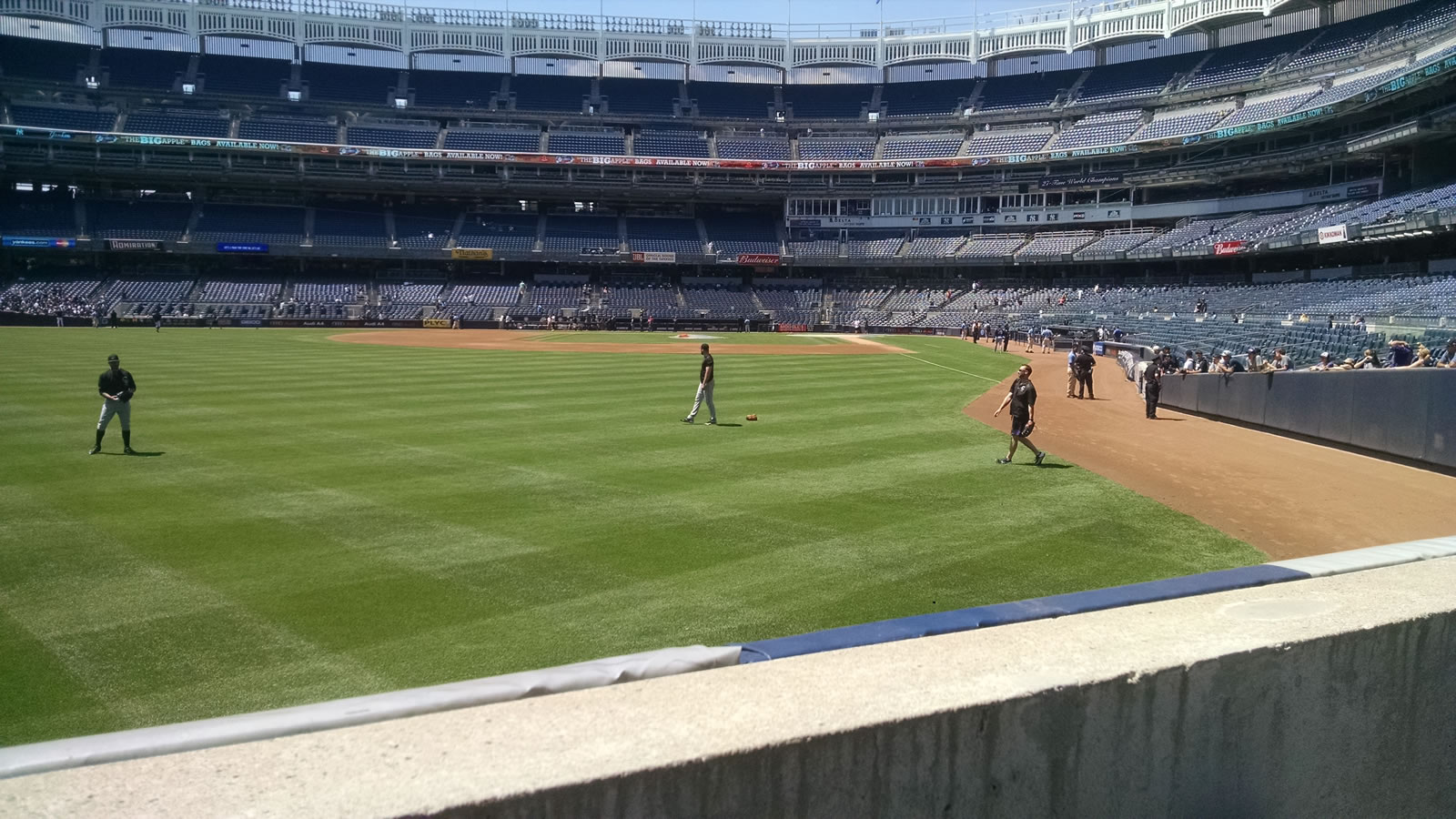 New York Yankees Seat View for Yankee Stadium Section 133, Row 1, Seat 8