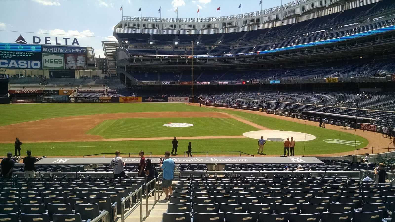 New York Yankees Seat View for Yankee Stadium Section 123, Row 15, Seat 9