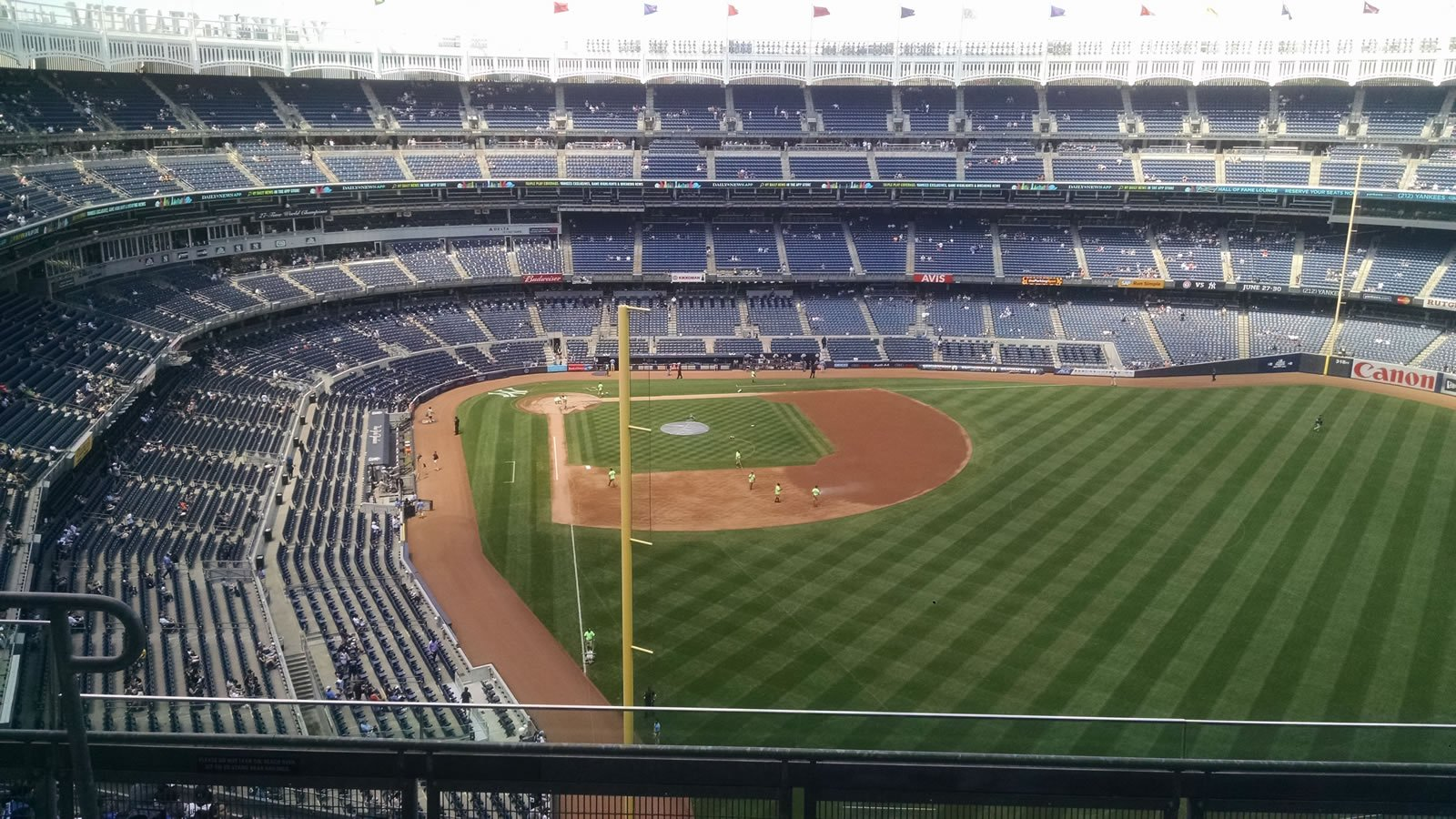 New York Yankees Seat View for Yankee Stadium Section 407A, Row 5, Seat 12