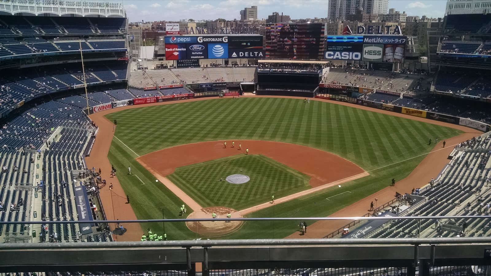 New York Yankees Seat View for Yankee Stadium Section 420A, Row 3, Seat 5