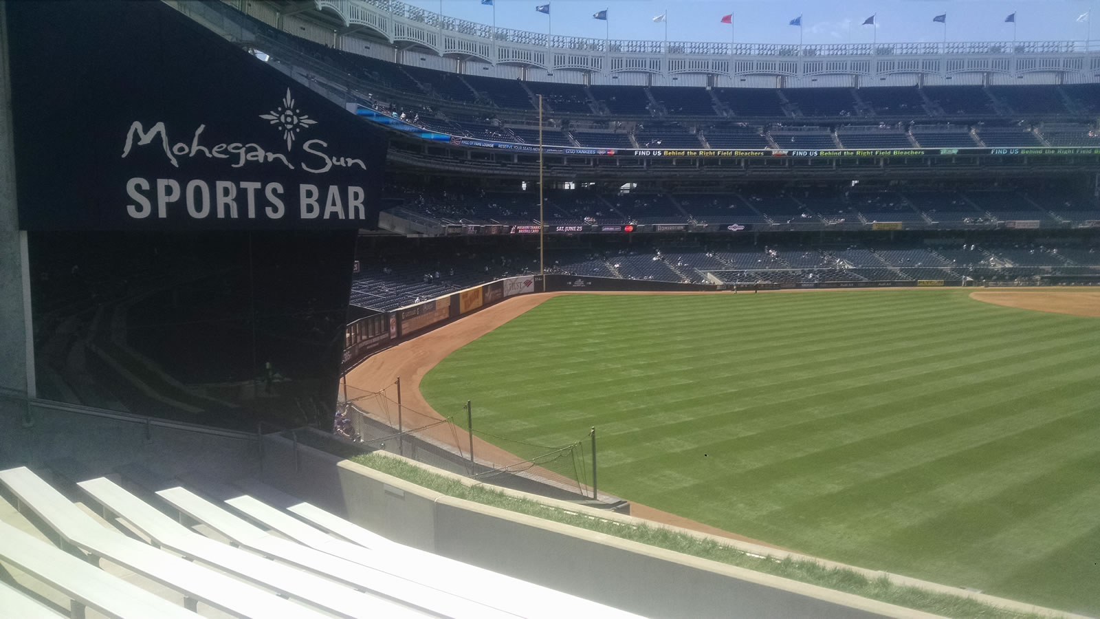 New York Yankees Seat View for Yankee Stadium Section 239, Row 9, Seat 1