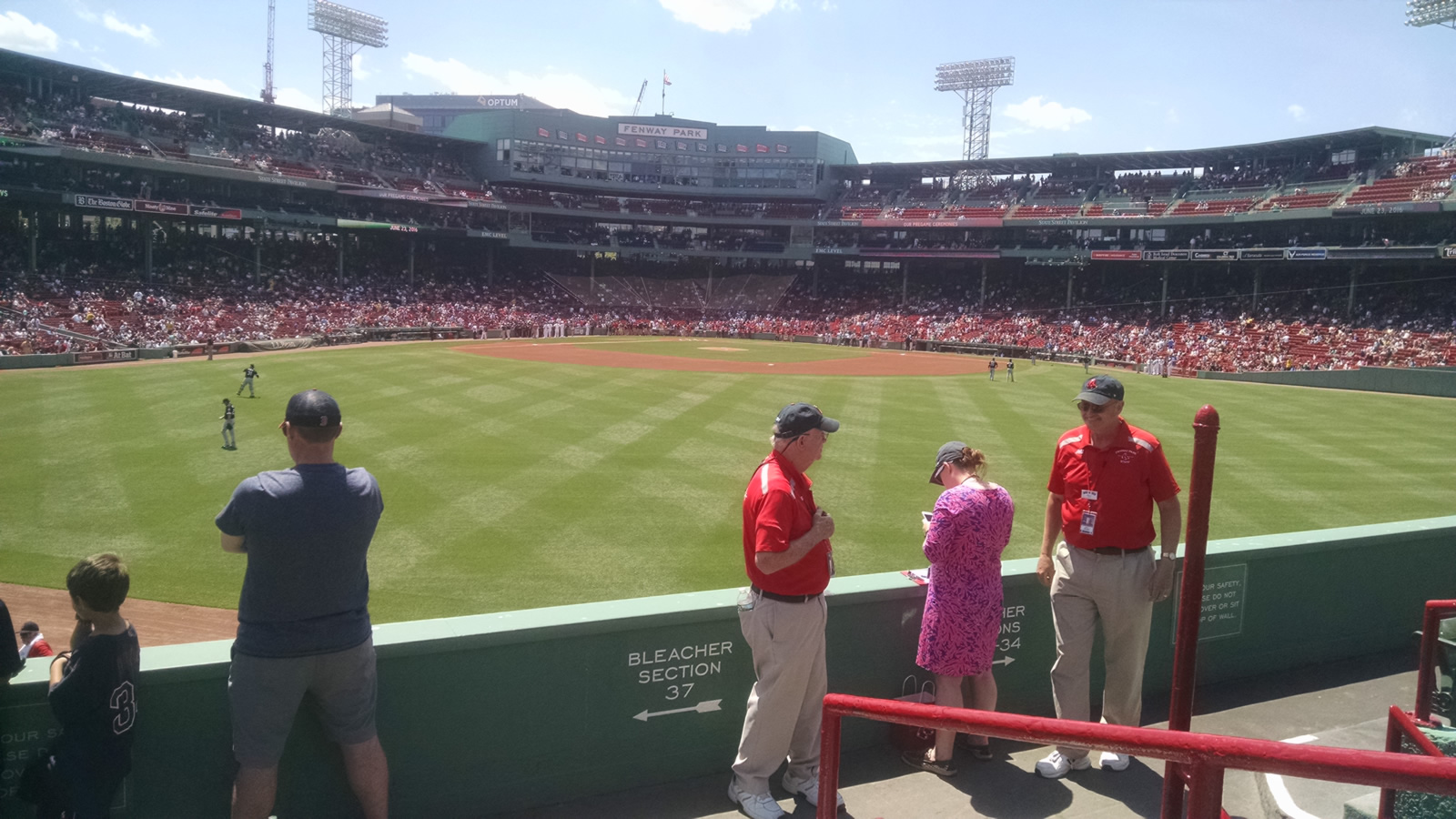 Seat View for Fenway Park Bleachers 37, Row 5, Seat 1