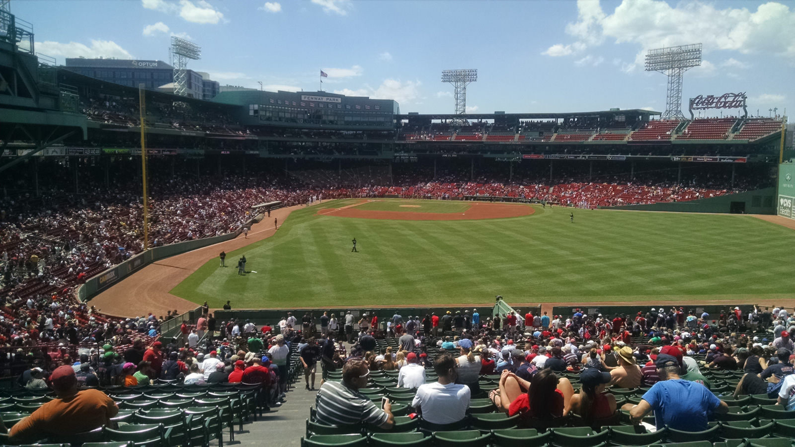 Seat View for Fenway Park Bleachers 42, Row 48, Seat 25