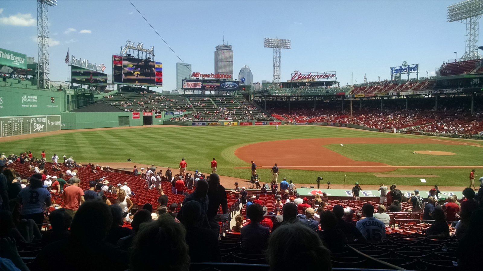 Seat View for Fenway Park Grandstand 27, Row 4, Seat 18
