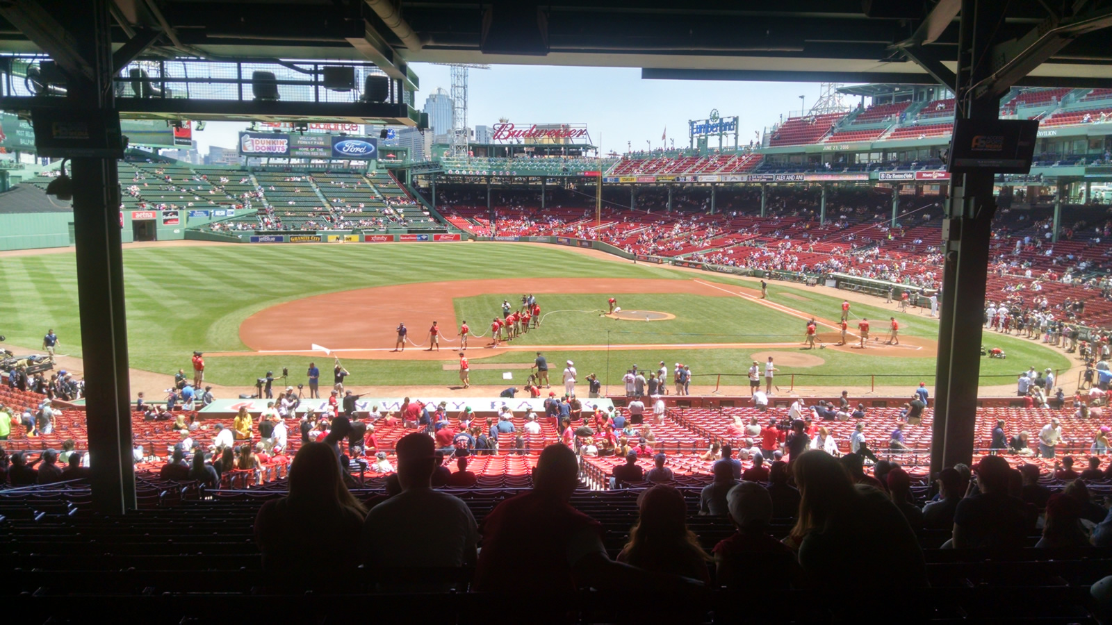 Seat View for Fenway Park Grandstand 26, Row 15, Seat 15