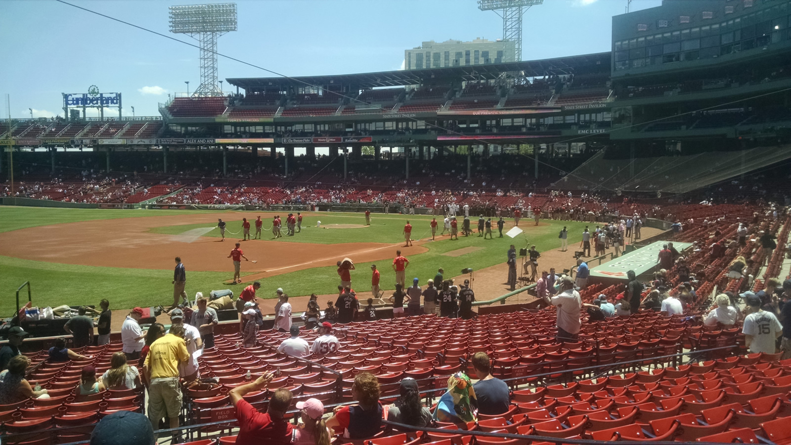 Seat View for Fenway Park Loge Box 160, Row KK, Seat 5