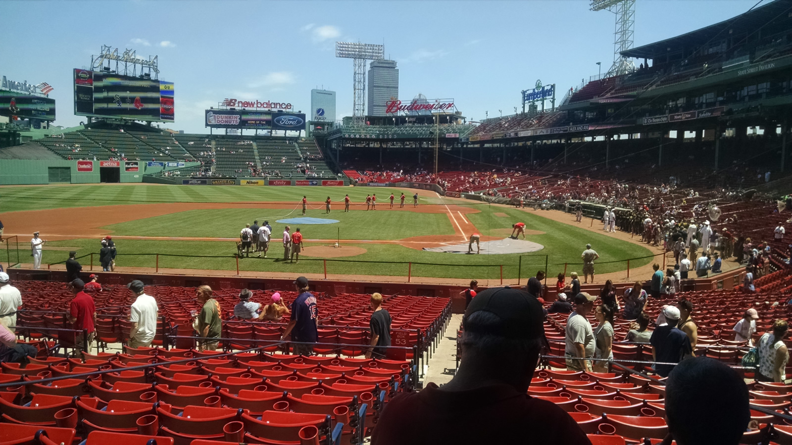 Seat View for Fenway Park Loge Box 139, Row JJ, Seat 4