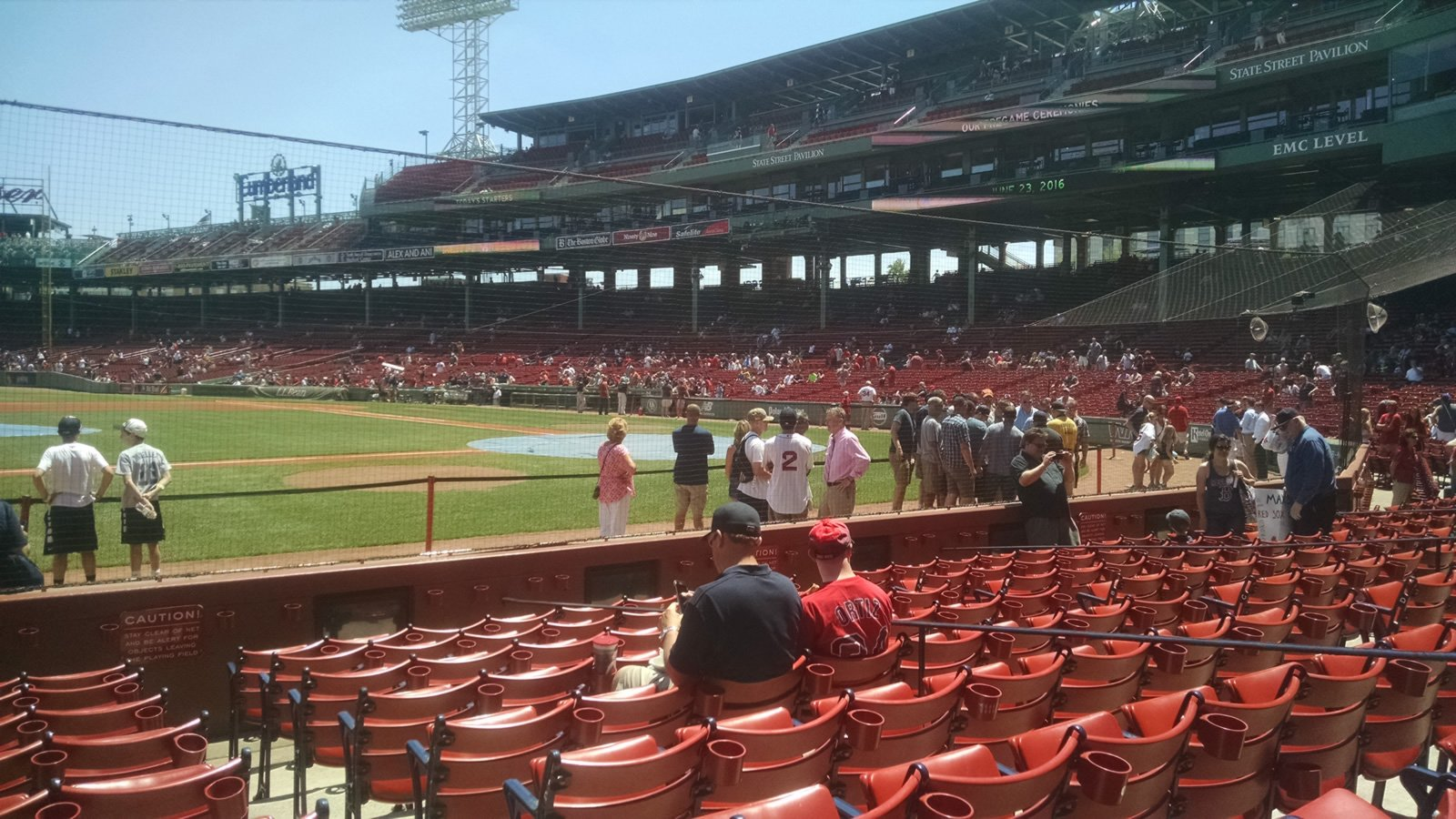 Seat View for Fenway Park Field Box 59, Row H, Seat 2
