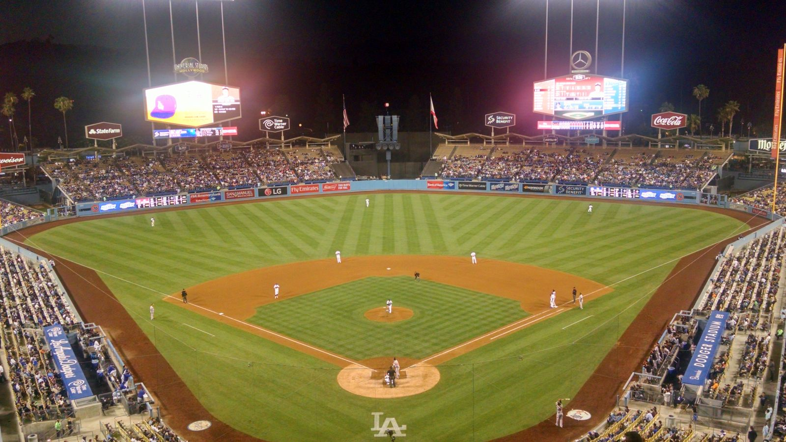 Seat View for Dodger Stadium Infield Reserve 1, Row O