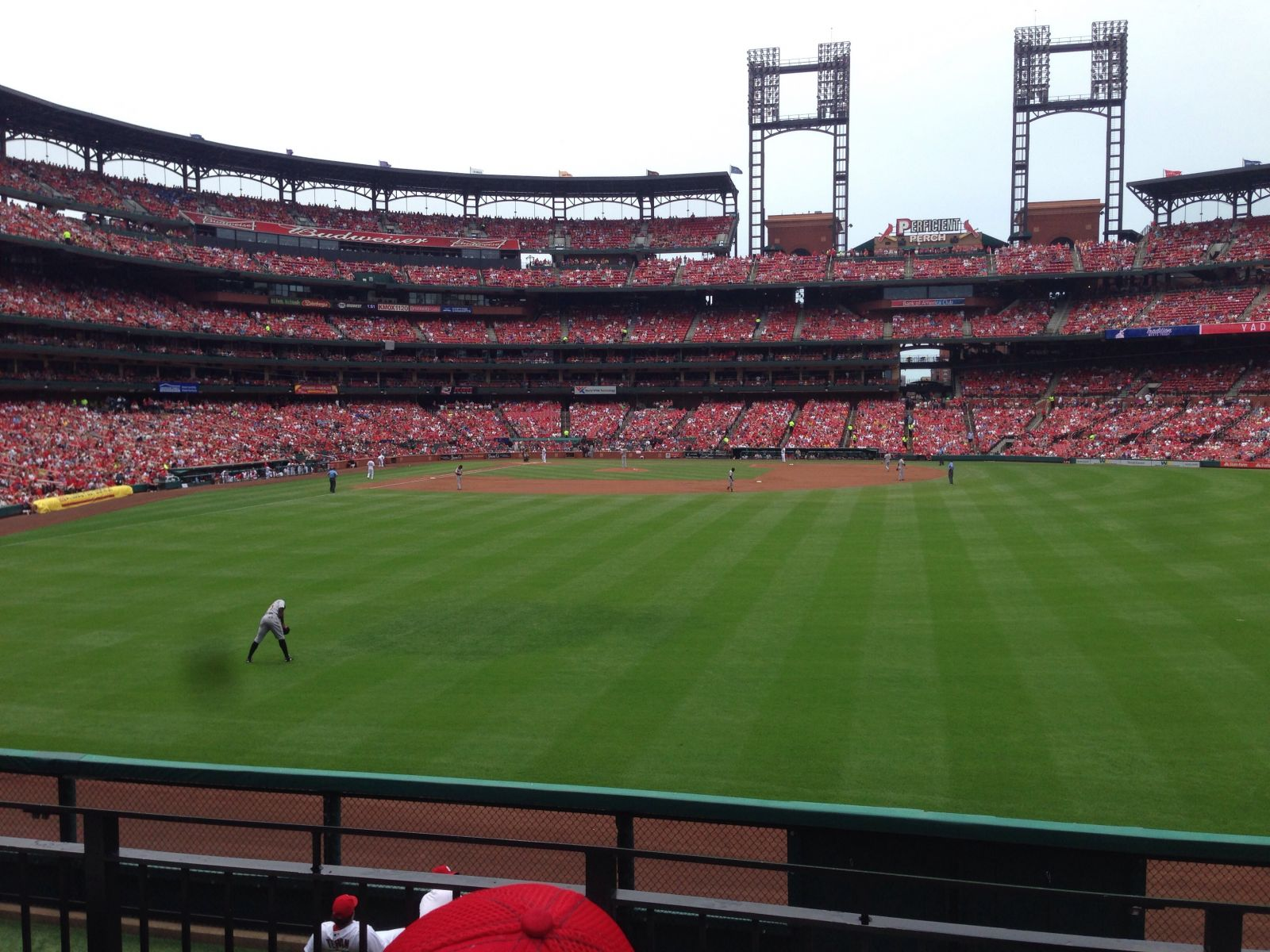 Seat View for Busch Stadium Section 109, Row 13, Seat 24