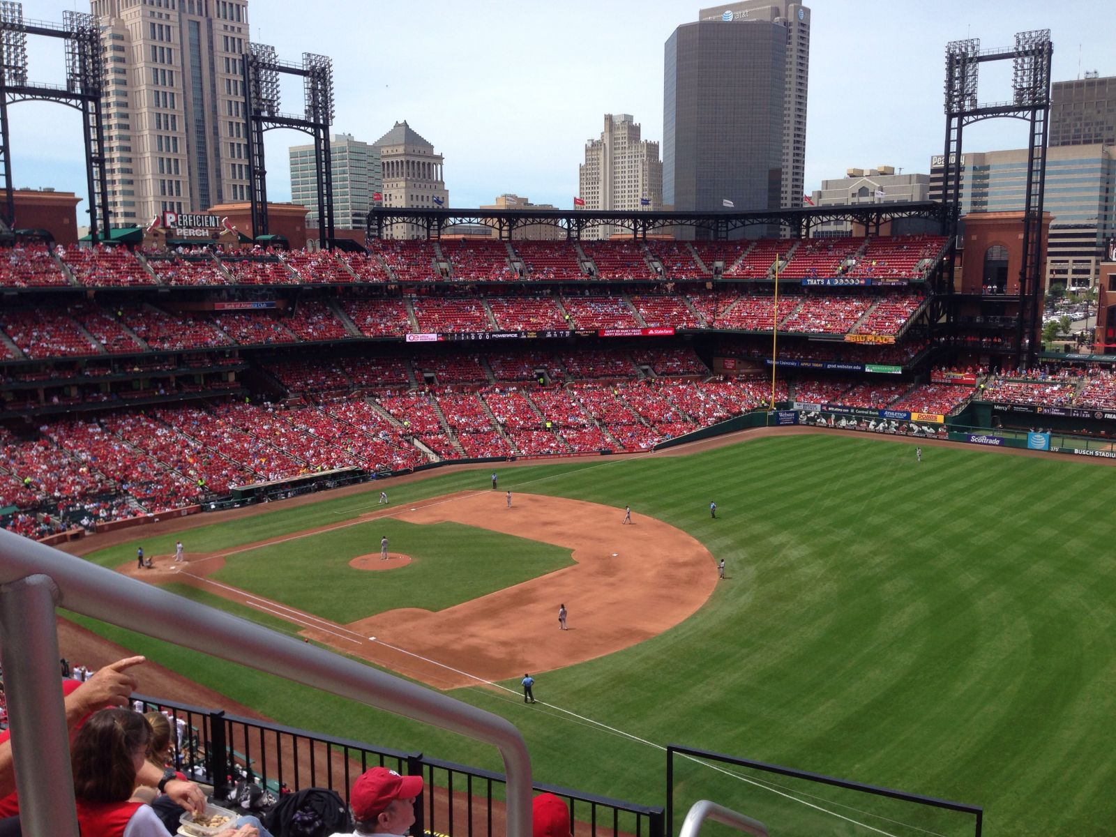 Seat View for Busch Stadium Section 335, Row 5, Seat 1