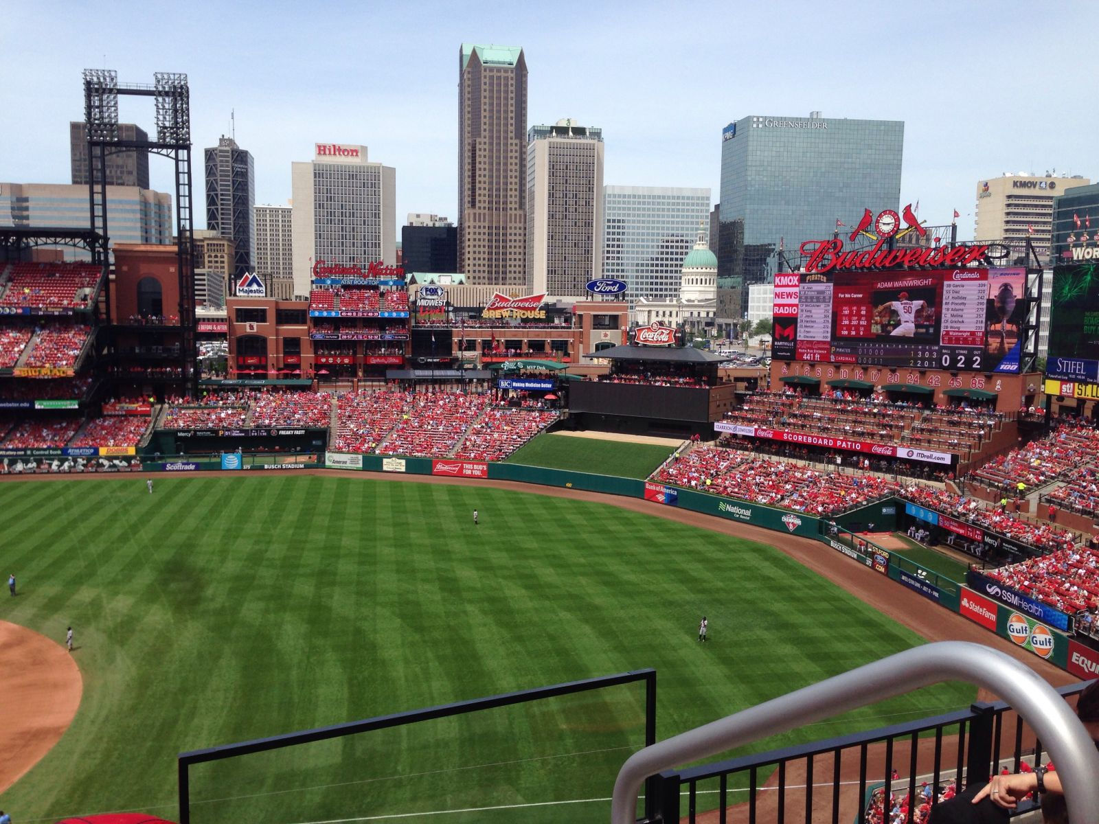 Seat View for Busch Stadium Section 340, Row 3