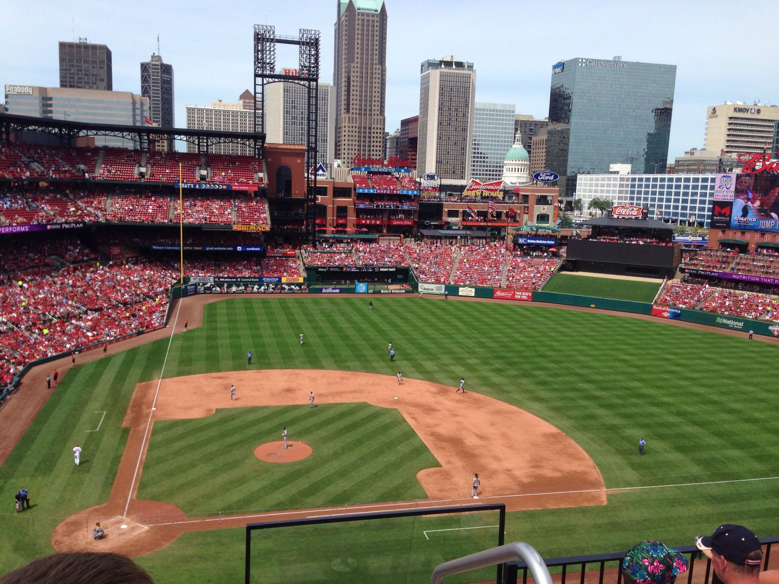 Seat View for Busch Stadium Section 345, Row 4