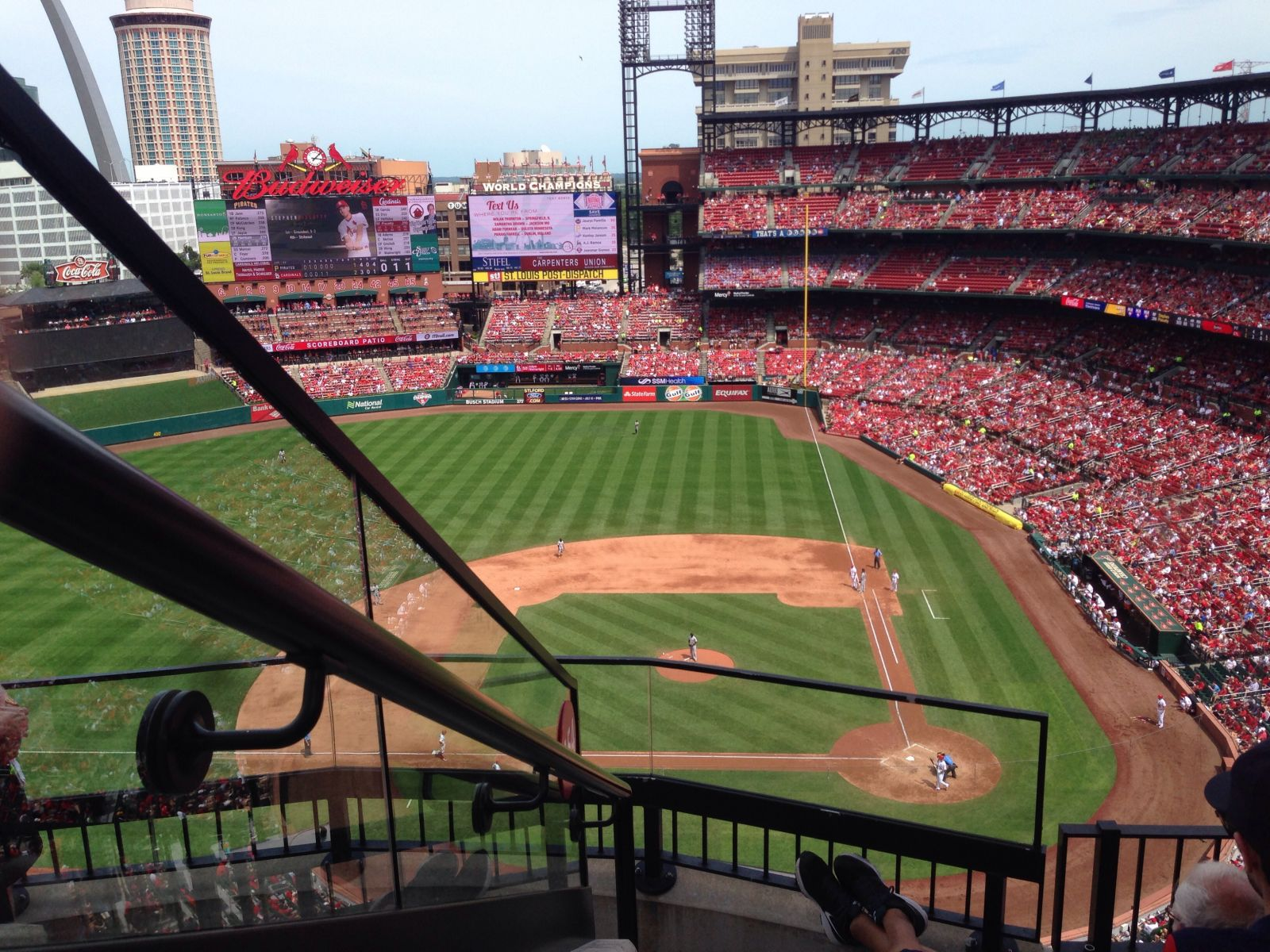 Seat View for Busch Stadium Section 454, Row 4, Seat 21