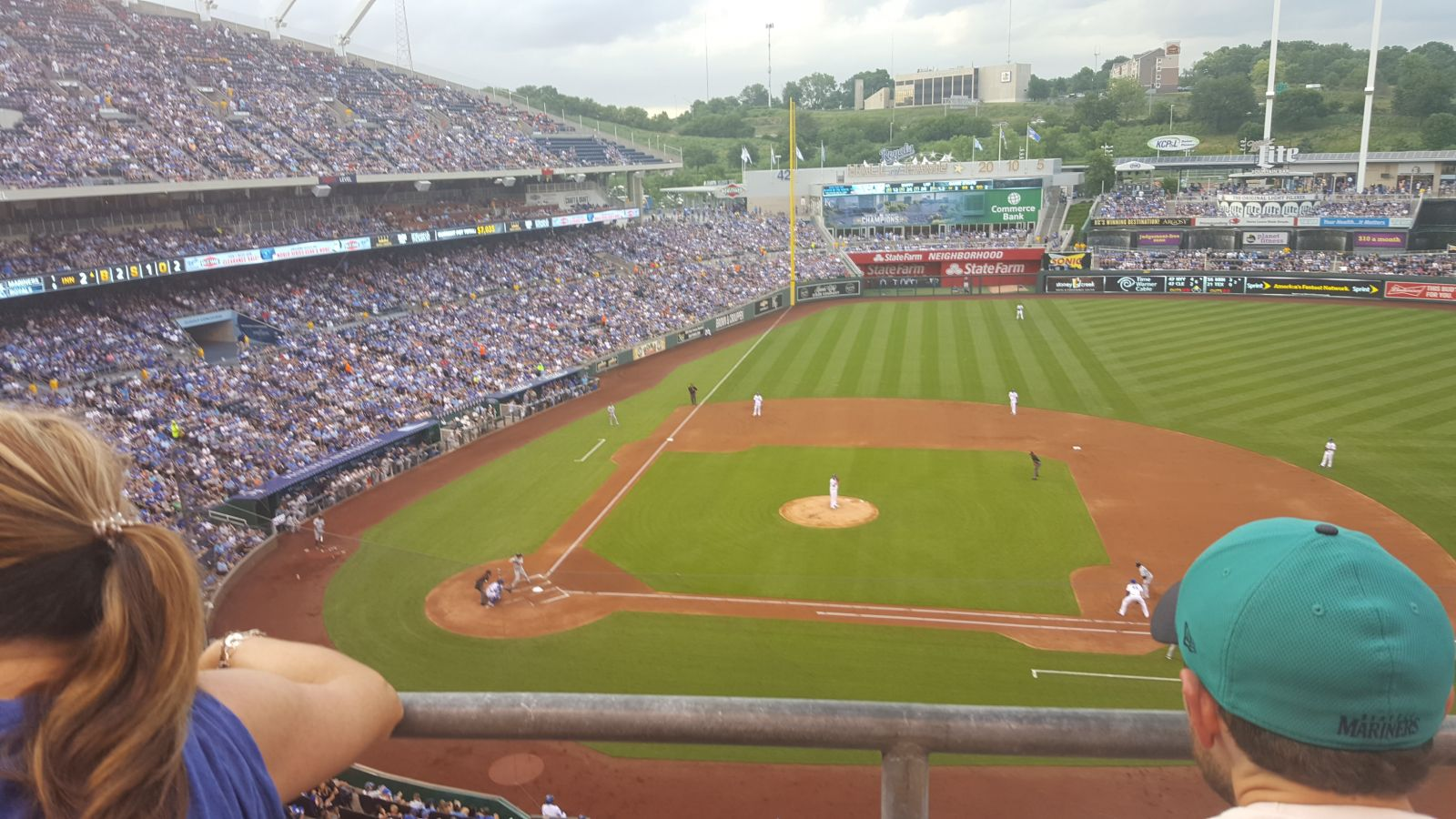 Seat View for Kauffman Stadium Section 428, Row B, Seat 9