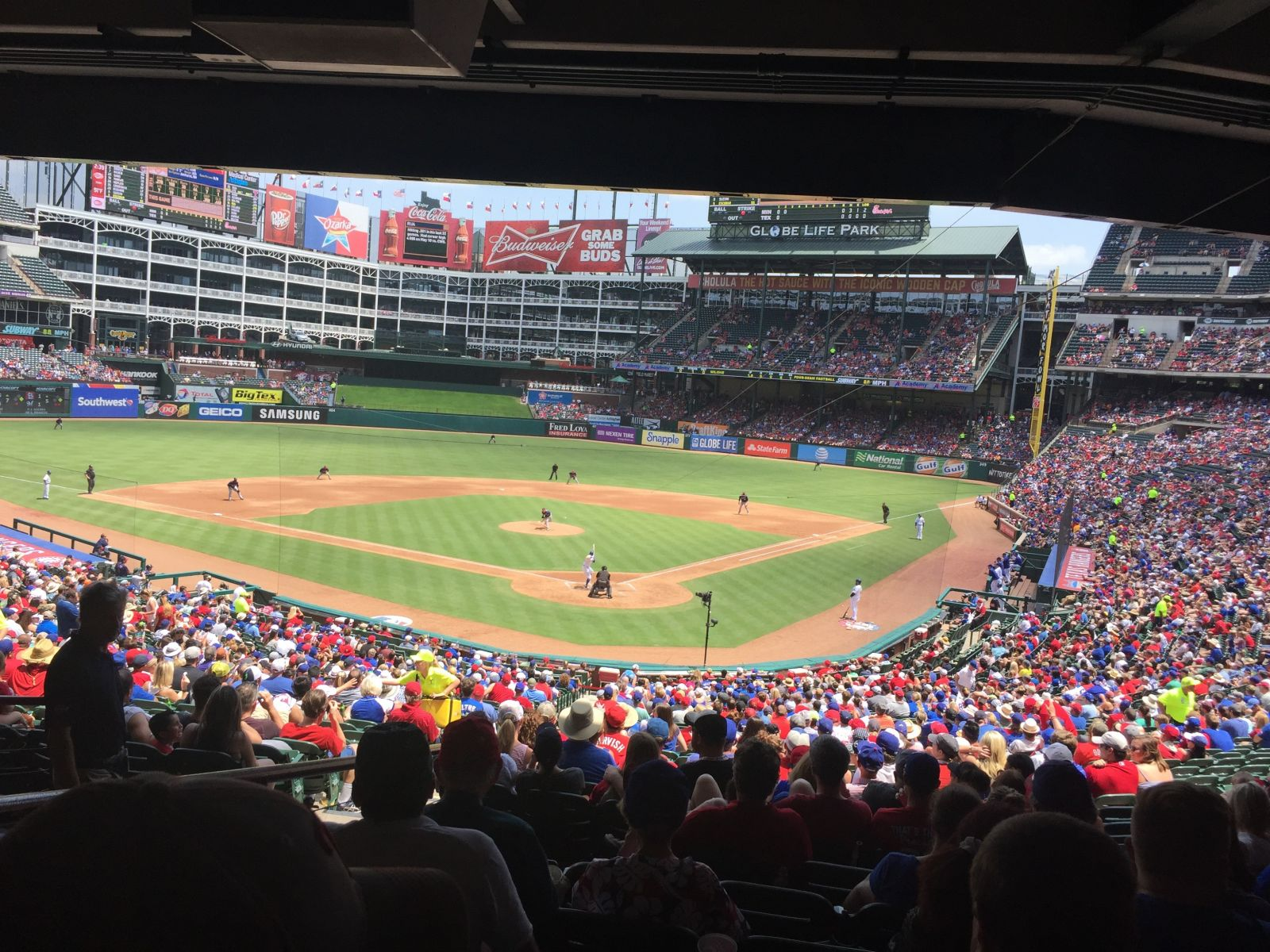 Seat View for Globe Life Park Section 125, Row 37, Seat 12