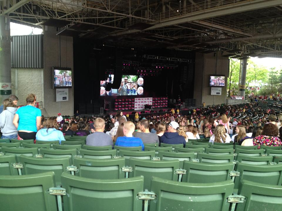 Concert Seat View For Xfinity Center Section 8