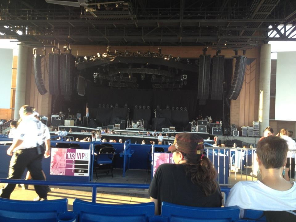 Concert Seat View for Ak-Chin Pavilion Section 203, Row BB
