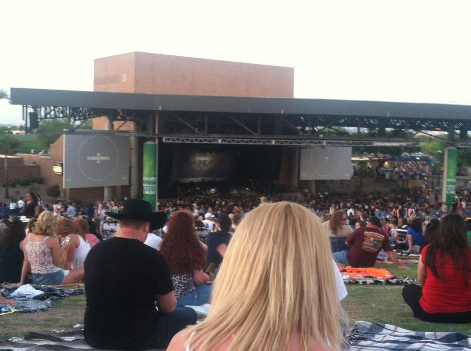 Concert Seat View for Ak-Chin Pavilion Lawn