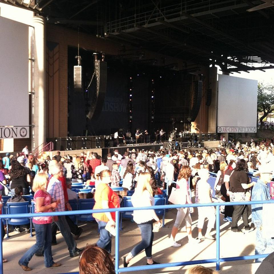 Concert Seat View for Ak-Chin Pavilion Section 205, Row CC
