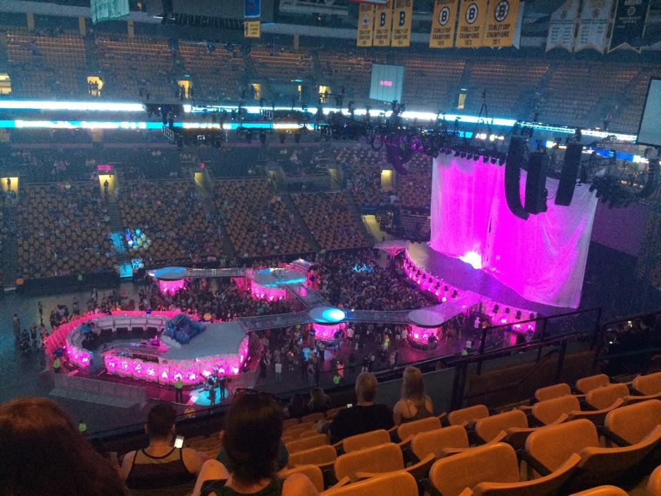 concert seat view for td garden section 302 - Td Garden Seating