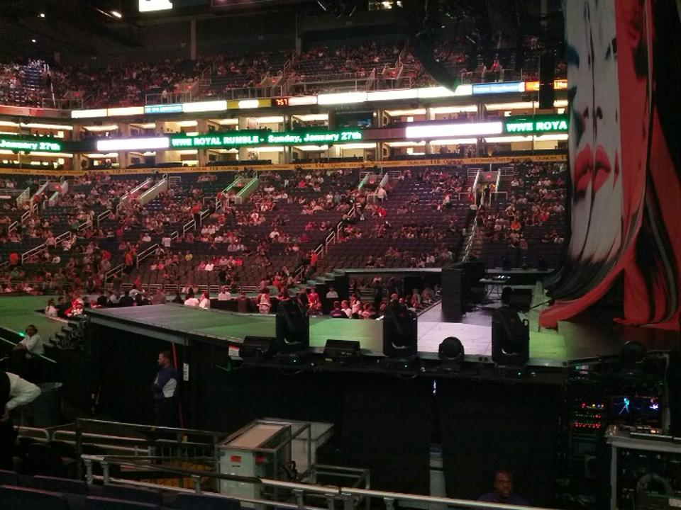 Talking Stick Resort Arena Section 124 Concert Seating